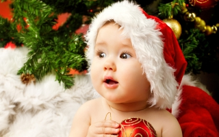 Cute Adorable Baby Santa