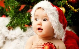 Cute Adorable Baby Santa