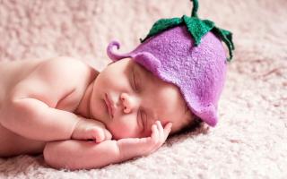 Cute Sleeping Newborn Baby