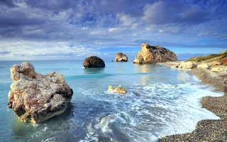 Cyprus Rock Sea Shores