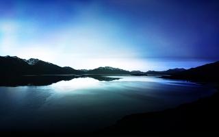 Dark Lake View Reflections