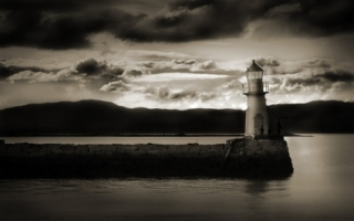 Dark Lighthouse Wallpaper Landscape Nature