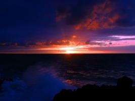 Dark sea sunset Wallpaper Landscape Nature