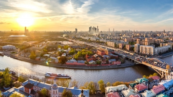 Downtown Moscow Russia Panorama