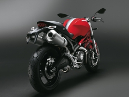 Ducati Monster 696 Red Rear