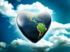 Earth Heart Wallpaper Abstract 3D