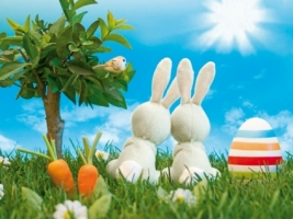 Easter Bunnies Wallpaper Easter Holidays
