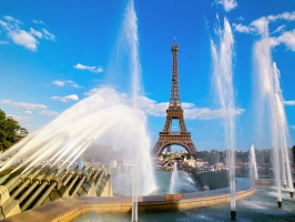 Eiffel Tower Fountain Paris