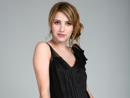 Emma Roberts in Black