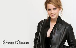 Emma Watson in Black Coat HD Wide