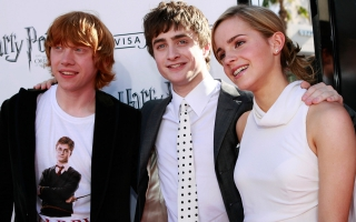 Emma Watson with Daniel Radcliffe Wide