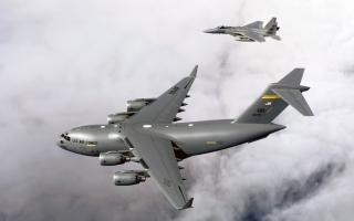 F 15B Eagles & C 17 Globemaster III