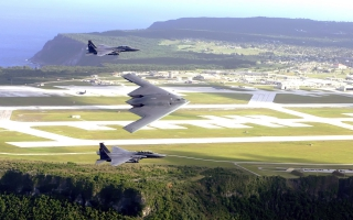 F 15E Strike Eagles & B 2 Spirit Bomber