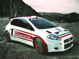 Fiat Grande Punto Abarth Front and Side Wallpaper Fiat Cars