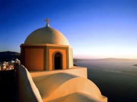 Fira Santorini Wallpaper Greece World