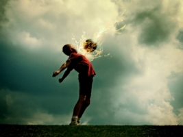 Fire ball Wallpaper Football Sports