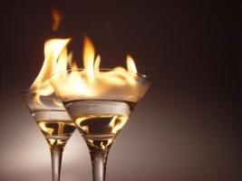 Flaming cocktails Wallpaper Miscellaneous Other