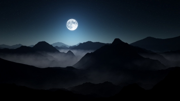 Full Moon Dark Mountains