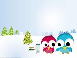 Funny Christmas Birds