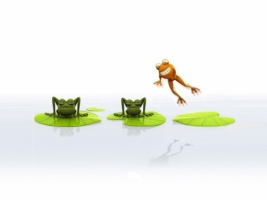 Funny Frogs Wallpaper 3D Characters 3D