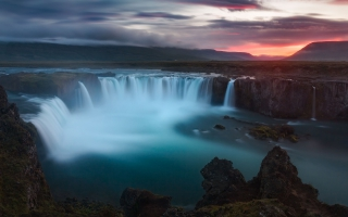Godafoss Waterfalls Iceland