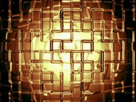 Gold Wall Wallpaper Abstract 3D
