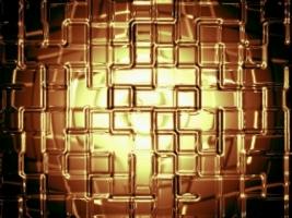 Gold Wall Wallpaper Abstract 3D