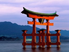 Grand Gate Itsukushima Shrine Wallpaper Japan World