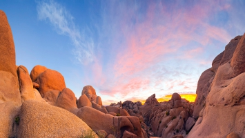 Granite boulders Joshua Tree National Park California USA