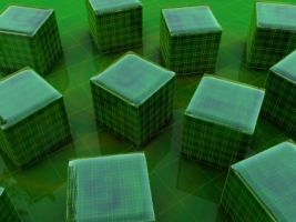 Green 3D Cubes Wallpaper 3D Models 3D