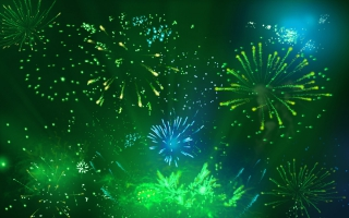 Green Fireworks 2