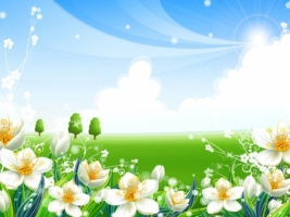 Green Vally Wallpaper Vector 3D