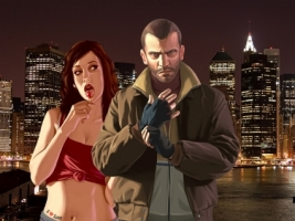 GTA 4 Niko Bellic and his girl Wallpaper GTA IV Games