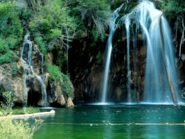 Hanging Lake Wallpaper Waterfalls Nature