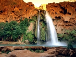 Havasu Falls Wallpaper Waterfalls Nature