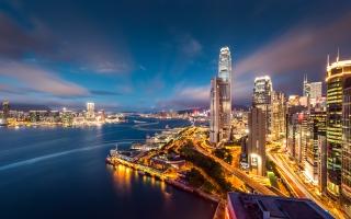 Hong Kong Harbour Night Lights