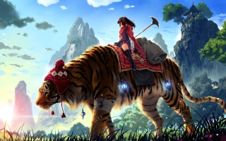 Huge Tiger Ride