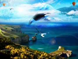 Imaginary World Wallpaper Photo Manipulated Nature
