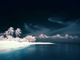 Infrared Island Wallpaper Photo Manipulated Nature