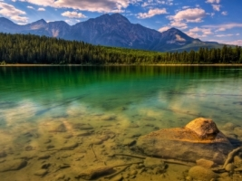 Jasper Lake Wallpaper Landscape Nature