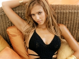 Jessica s Look Wallpaper Jessica Alba Female celebrities