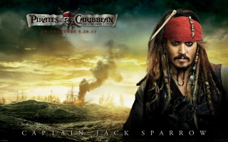 Johnny Depp in Pirates Of The Caribbean 4