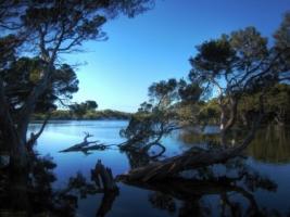 Kangaroo Island lagoon Wallpaper Landscape Nature