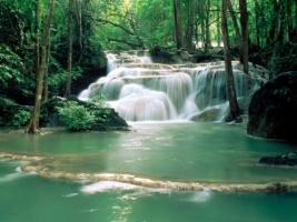 Kao Pun Temple Waterfalls Wallpaper Waterfalls Nature