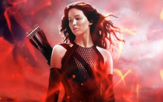 Katniss in The Hunger Games Catching Fire