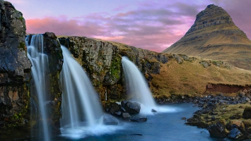 Kirkjufell Mountain Waterfalls Iceland