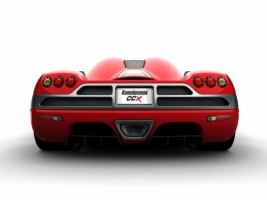 Koenigsegg CCX Red Rear Wallpaper Koenigsegg Cars