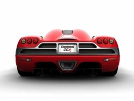 Koenigsegg CCX Red Rear Wallpaper Koenigsegg Cars