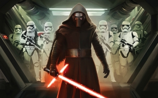 Kylo Ren and First Order Stormtroopers