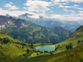 Lake in the Alps Wallpaper Landscape Nature